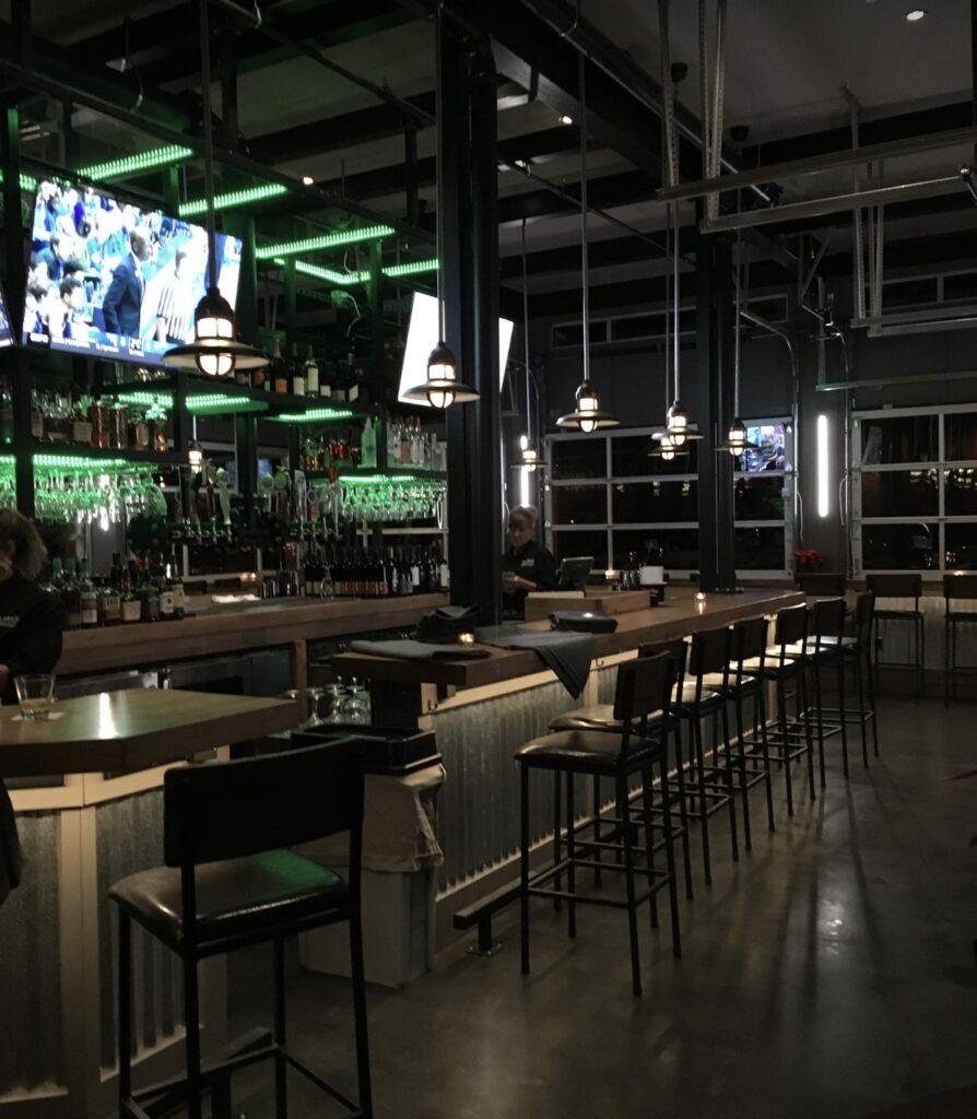 Photo of bar design with LED lighting