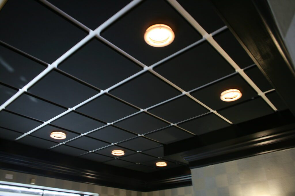 Photo of wrapped acoustical ceiling panels