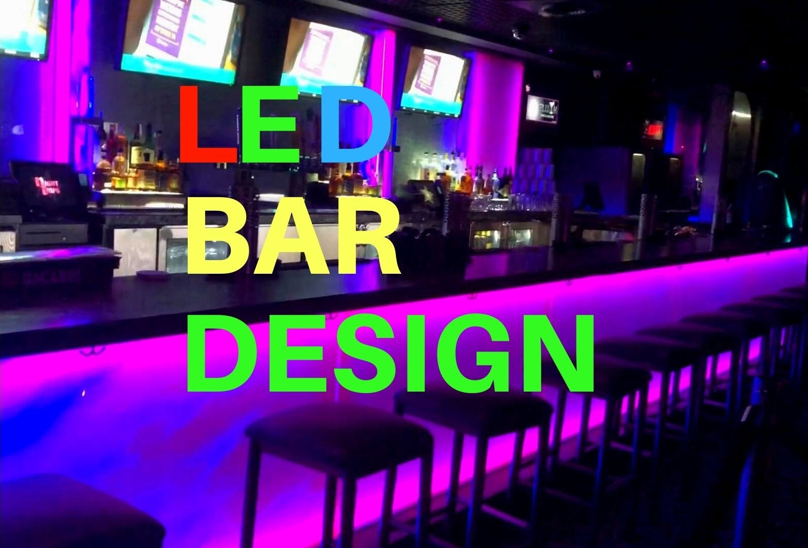 Photo of LED bar with architectural glass
