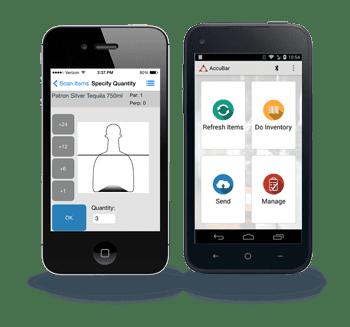 Image of AccuBar smartphone app