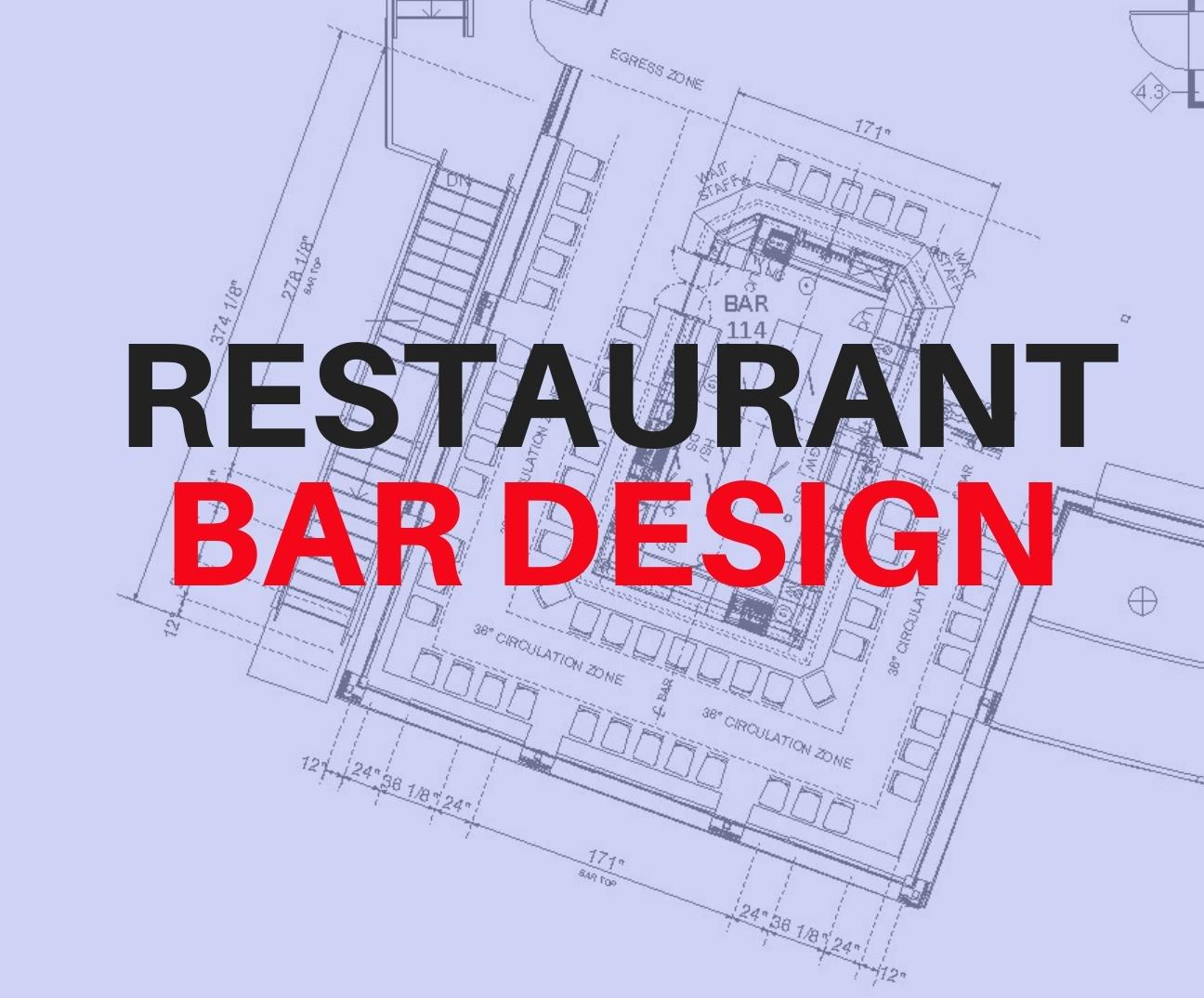 Architectural plan of restaurant bar