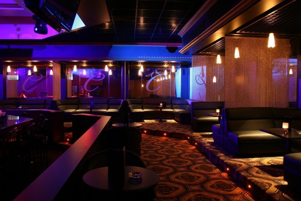 Photo of typical custom-built nightclub furniture