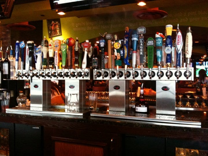 Photo of glycol draft beer tower
