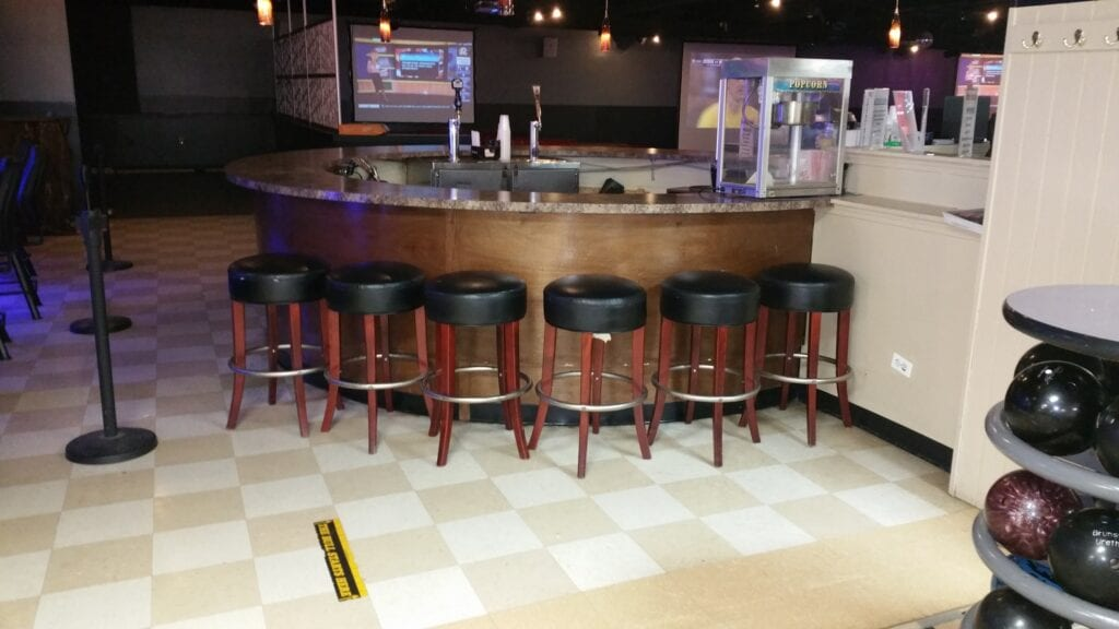 Photo of original commercial bar before the redesign