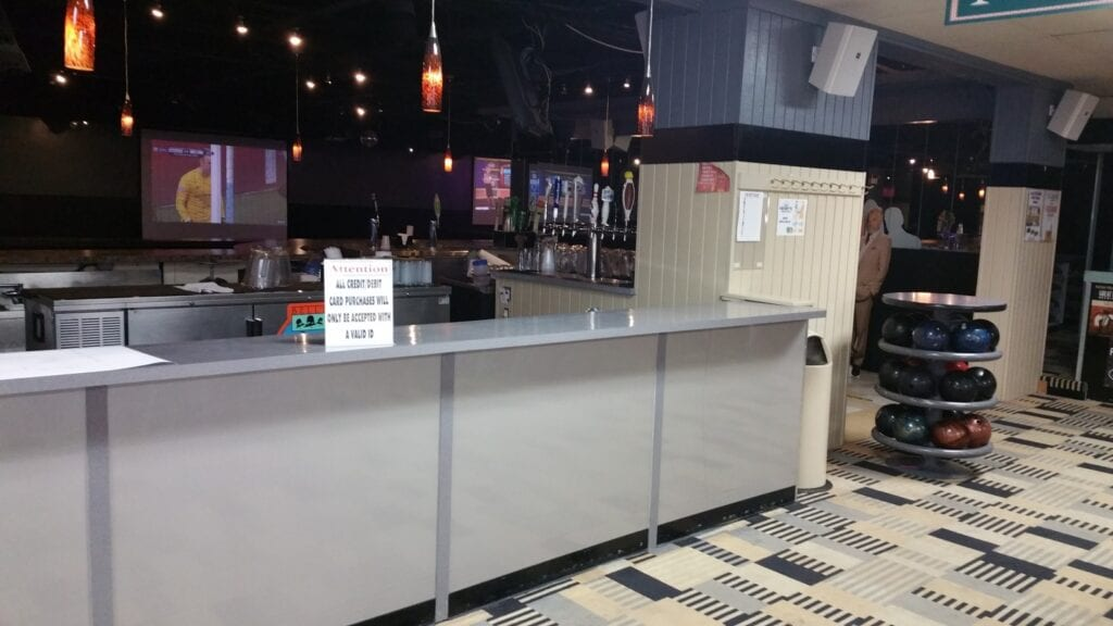 Photo of existing walk-up bar before redesign