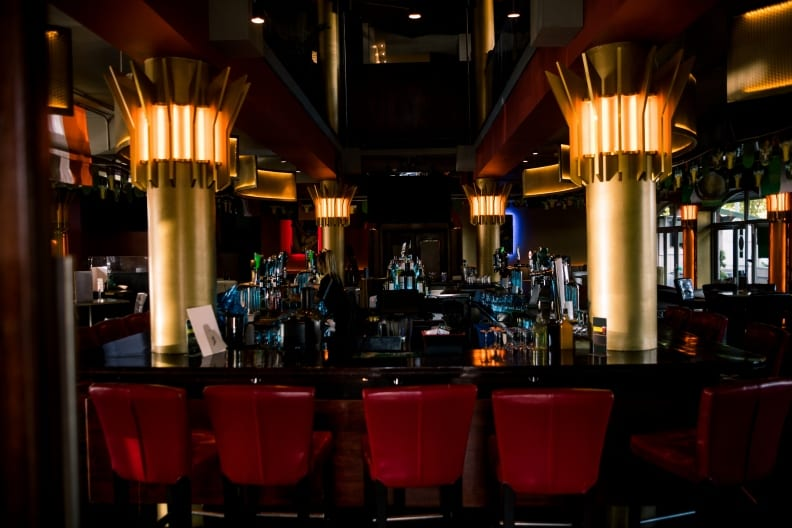 Photo of bar with a variety of lighting products