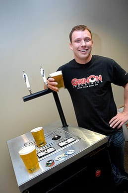 Photo of Josh Springer, the inventor of the Bottms Up draft beer system