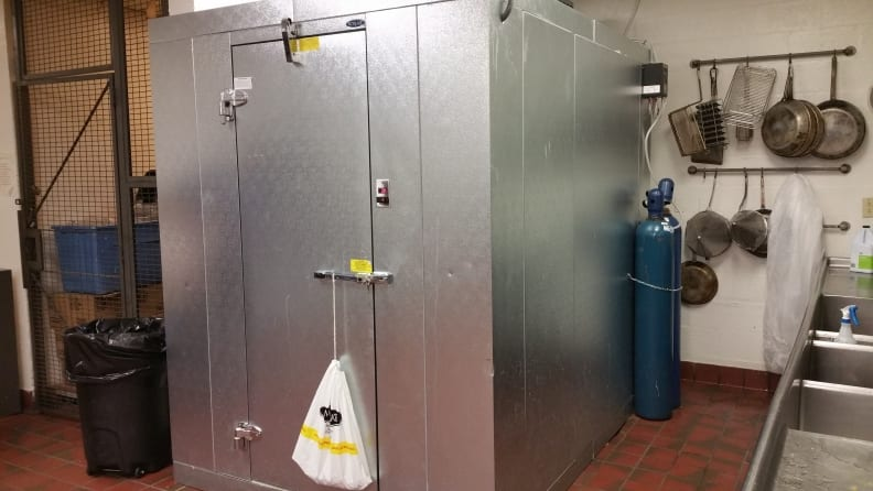 Photo of dedicated walk-in cooler for draft beer system