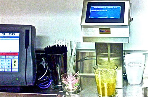 """Photo of Easybar self-service cocktail system (also referred to as a """"Tower"""")"""