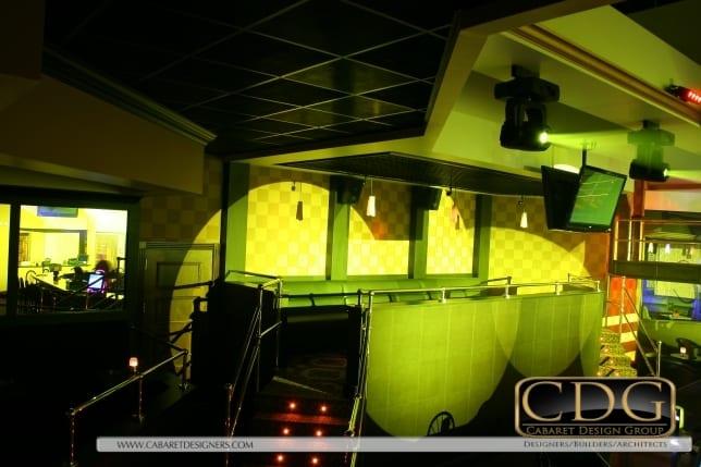 Photo of wallpaper in nightclub skybox