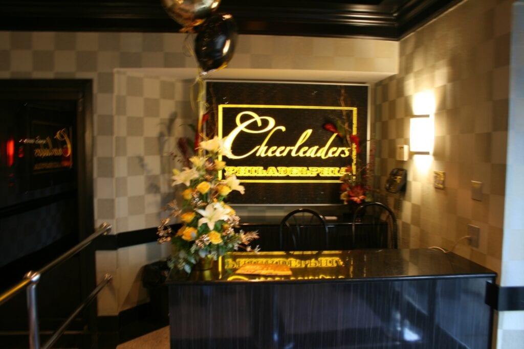 Photo of nightclub lobby with granite countertop