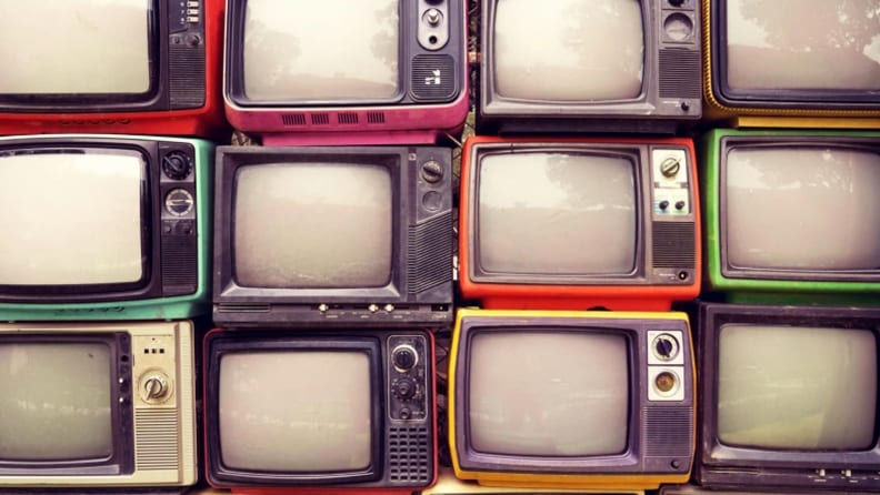 Photo of old tube-type TV's