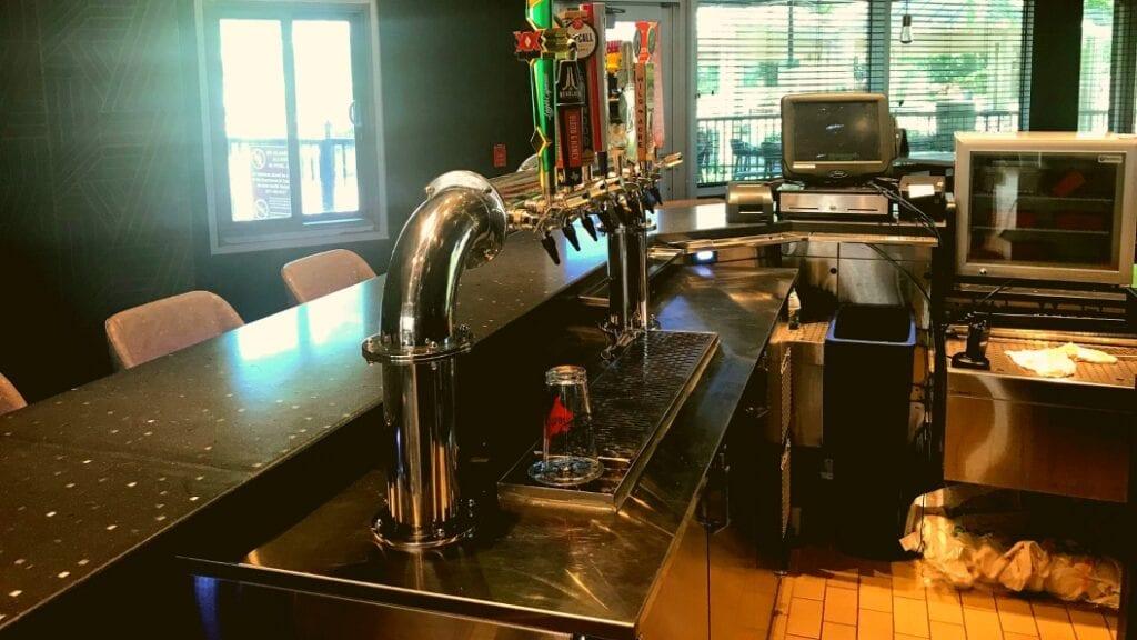 Photo of custom kegerator with custom draft beer tower