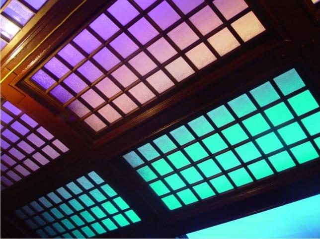 Photo of backlit translucent ceiling panels