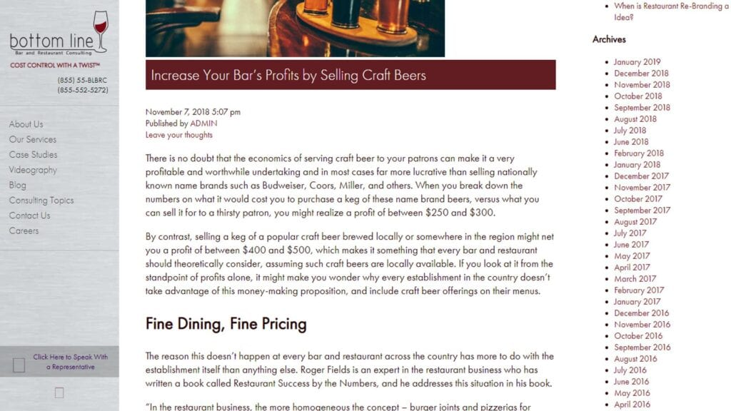 Article about the benefits of draft beer systems