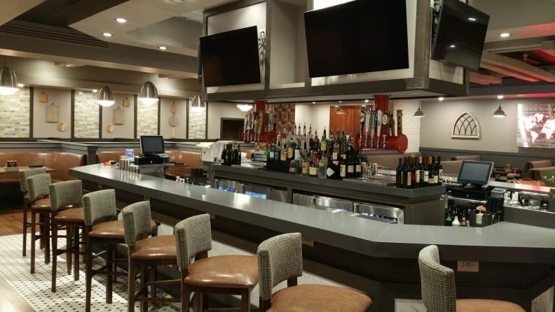 Photo of bar front with Wilsonart laminate finish
