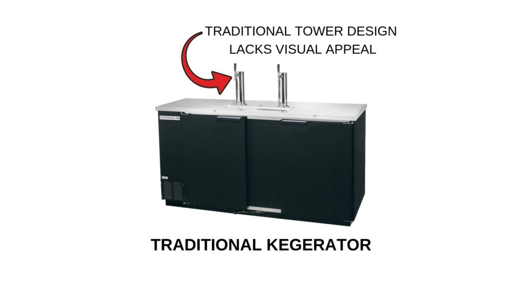 Photo of a traditional kegerator