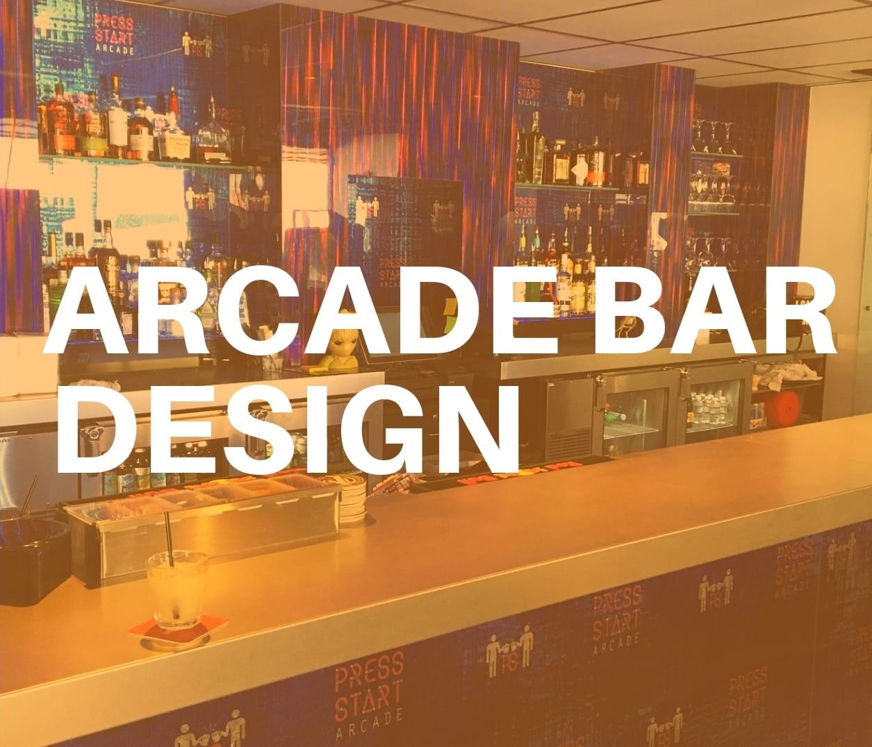 Arcade bar design for Press Start in Reno, NV