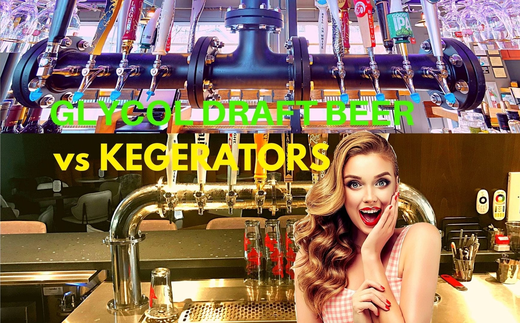 Which draft beer system is better - glycol-cooled or kegerators?