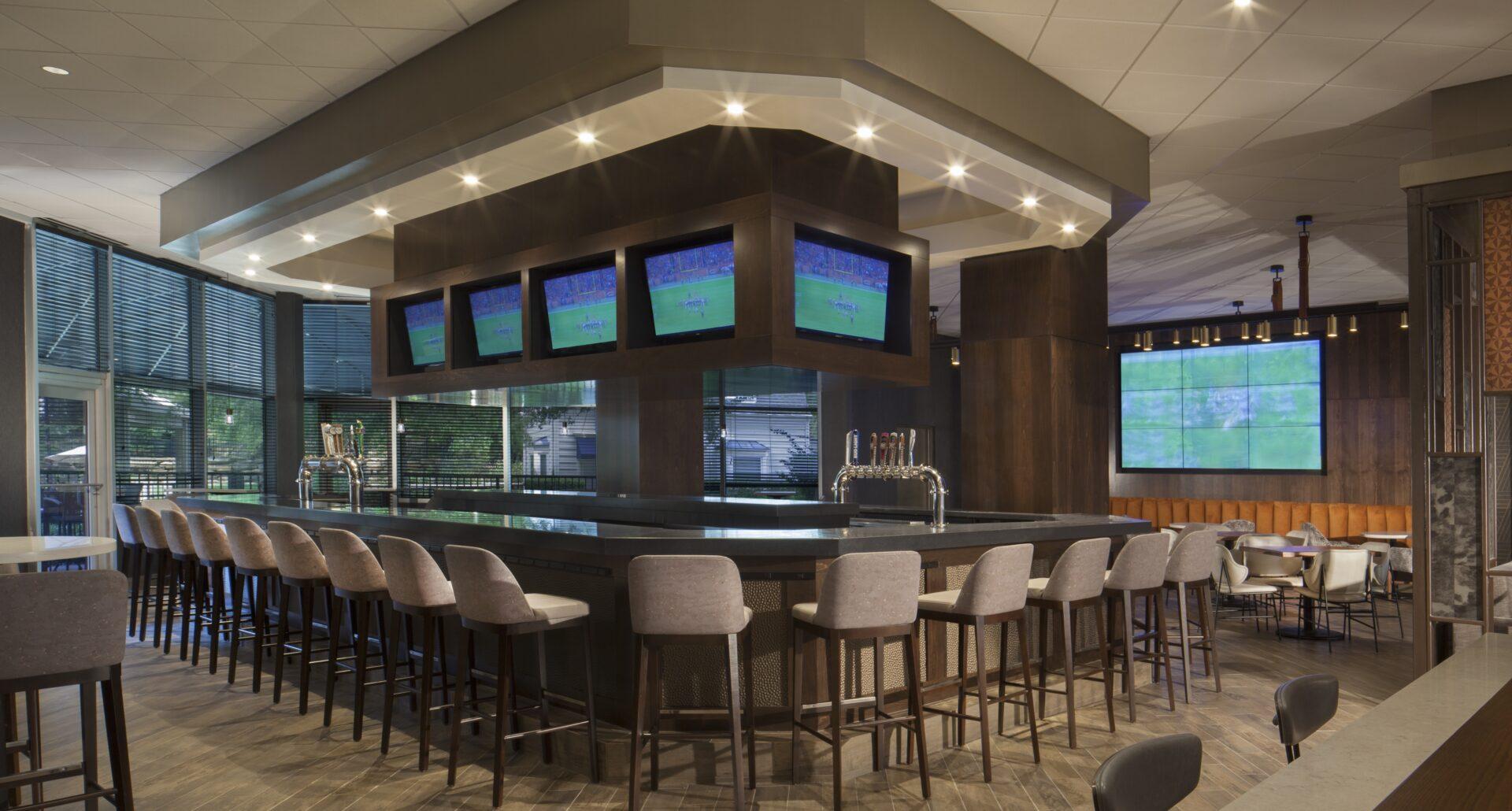 The Parkside Bar at the Sheraton Arlington in Arlington, TX