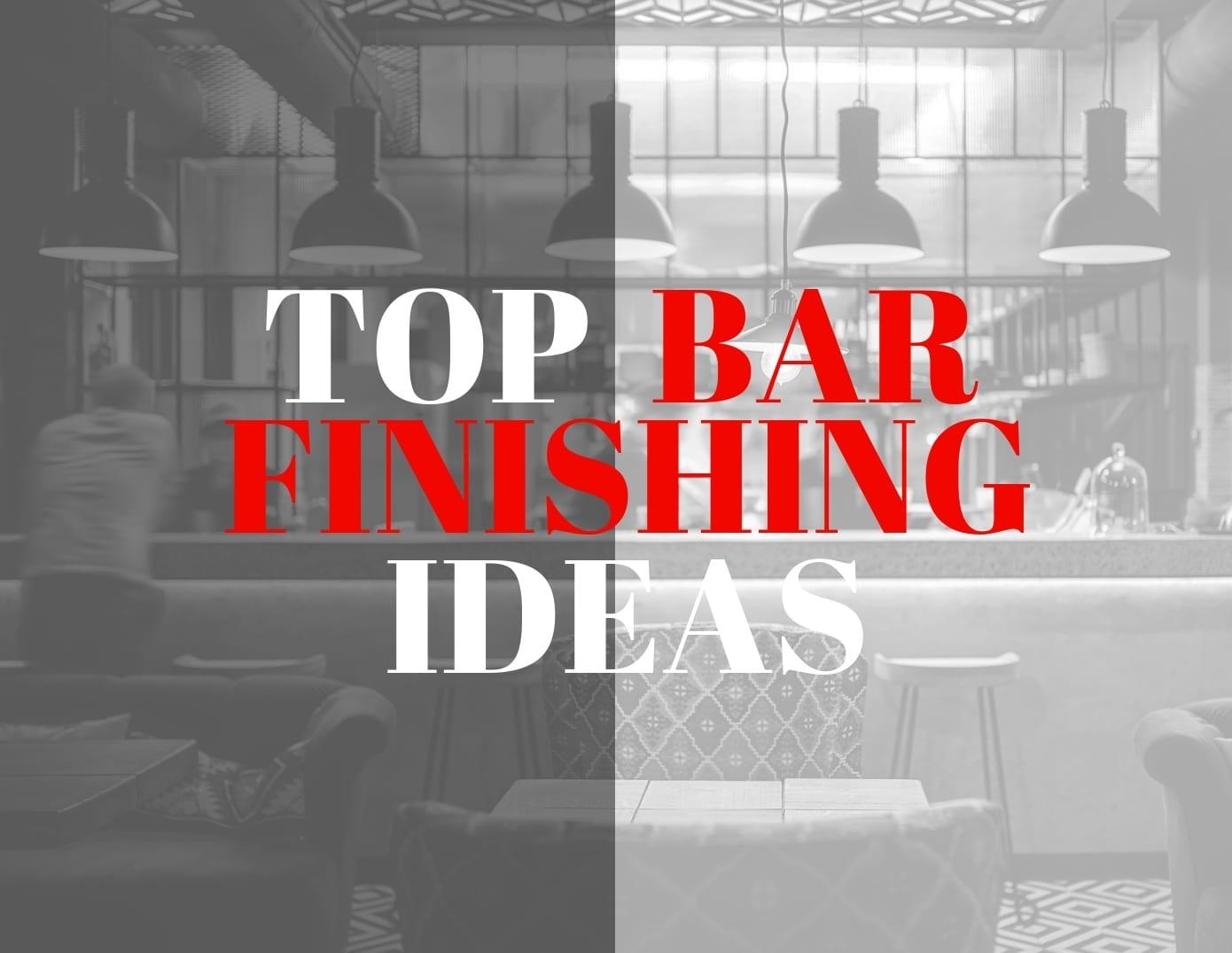 Top bar finishing ideas