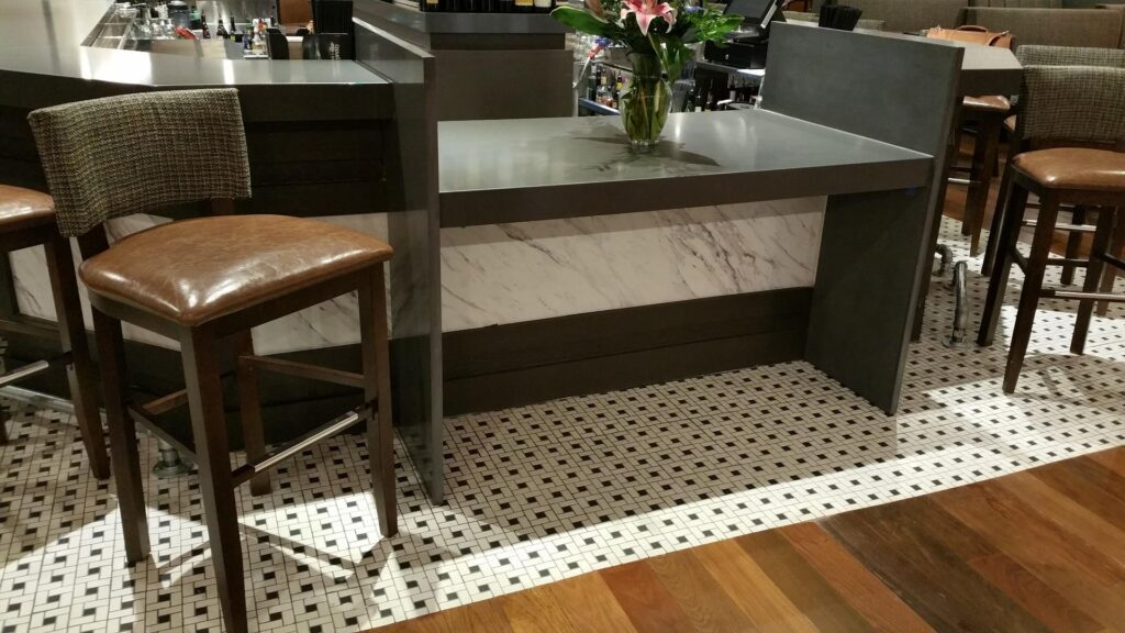 Photo of built-in ADA accommodation for commercial bars