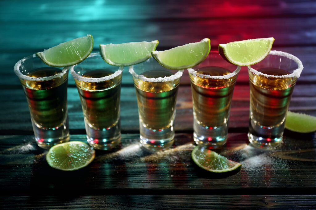 Photo of shots of tequila